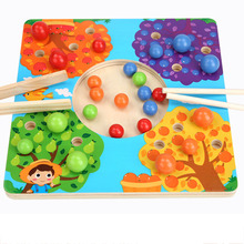 Coordination Education Baby Toys for Children Wooden Toys Chopsticks Training Clip Beads Ball Game schylling blow toys hobbies outdoor fun sports toy ball foam floating ball game children wooden education kids baby gift