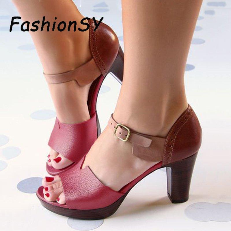 Chunky Heel Women Sandals Summer women