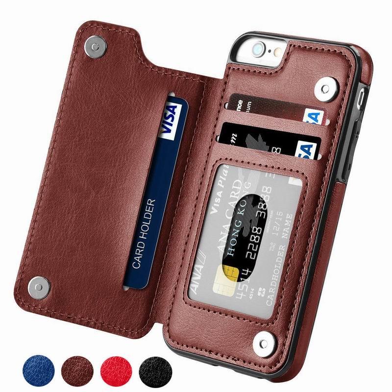 כיסוי עור יוקרתי בעיצוב ארנק למכשירי iPhone 1