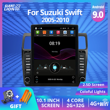 Car Radio Multimedia Player For Suzuki Swift 2005 2006 2007-2010 2007 2DIN Android 9.0 Navigation WiFi Autoradio Car DVD Player image