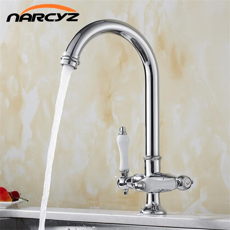 Kitchen Faucets Chrome Brass Kitchen Faucets Mixer Drinking Waterfull Filter Faucet Kitchen Sink Tap Water Tap XT-215