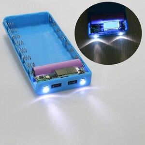 Image 2 - Kebidu Novo Multi cor 8*18650 Caixa de Bateria Shell Banco de Potência De Lítio ion Portátil Display LCD Externo caixa Sem Bateria