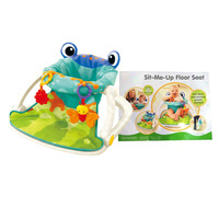 Baby frog chair rattle padded portable multi function foldable baby chair