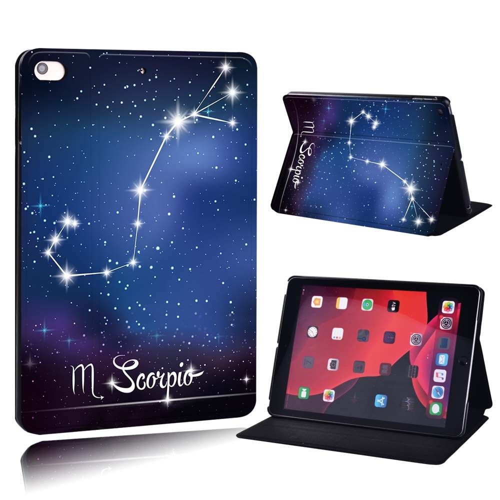 star sign - Libra Gray For Apple iPad 8 10 2 2020 8th 8 Generation A2428 A2429 PU Printed Star Sign