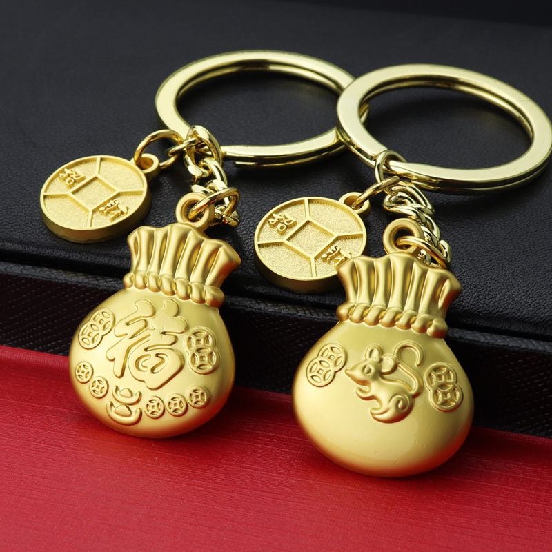 New Lucky Keychain Year Of The Rat Keychain Keychain Can Be Customized LOGO Upscale Gifts Small Gifts Key Chain Jewelry K2434