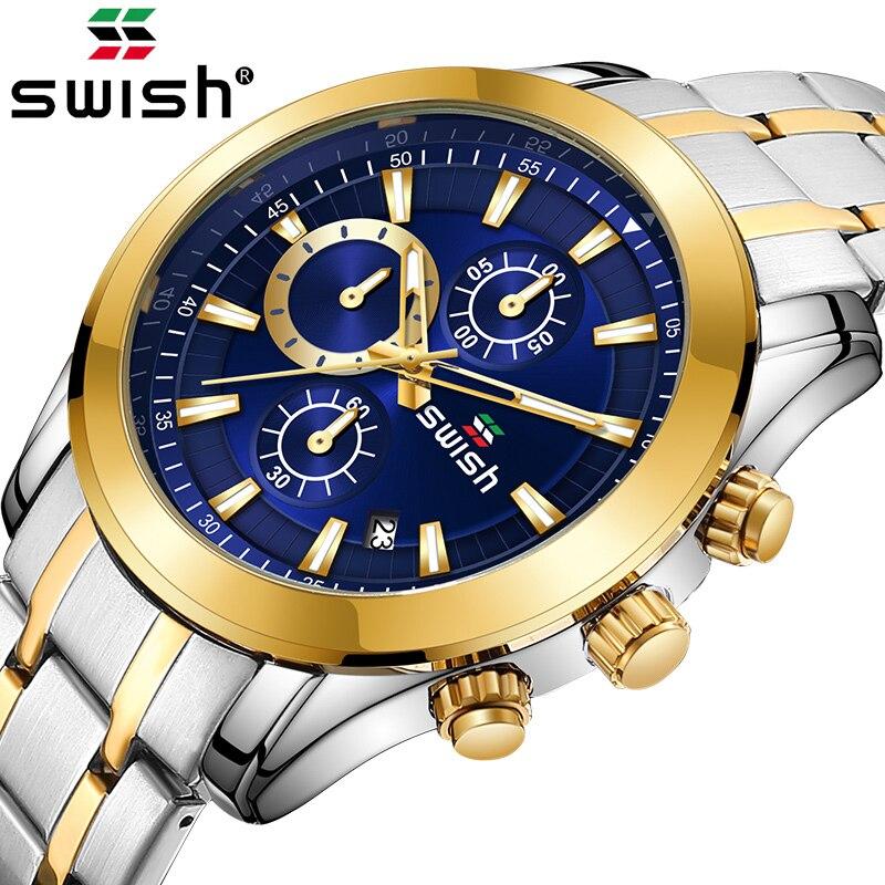 Relojes 2020 Watch Men SWISH Fashion Sport Quartz Clock Mens Watches Top Brand Luxury Business Waterproof Watch Relogio Masculin