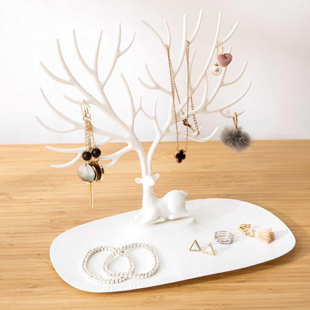 Chic exhibición pendientes collar anillo pendiente pulsera joyería soporte de exhibición bandeja árbol almacenamiento soporte organizador de joyas