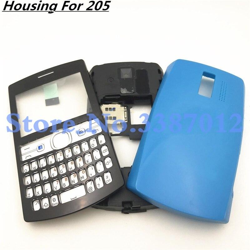 Original For Nokia 205 Full Housing Cover Door Frame + Battery Back cover+English Keypad|Mobile Phone Housings & Frames| |  - title=