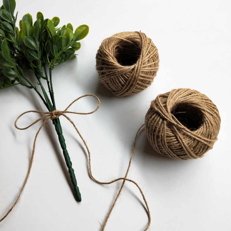 30M Natürliche Sackleinen Hessischen Jute Schnur Schnur Hanf Seil String Geschenk Verpackung Saiten Weihnachten Event & Partei Liefert
