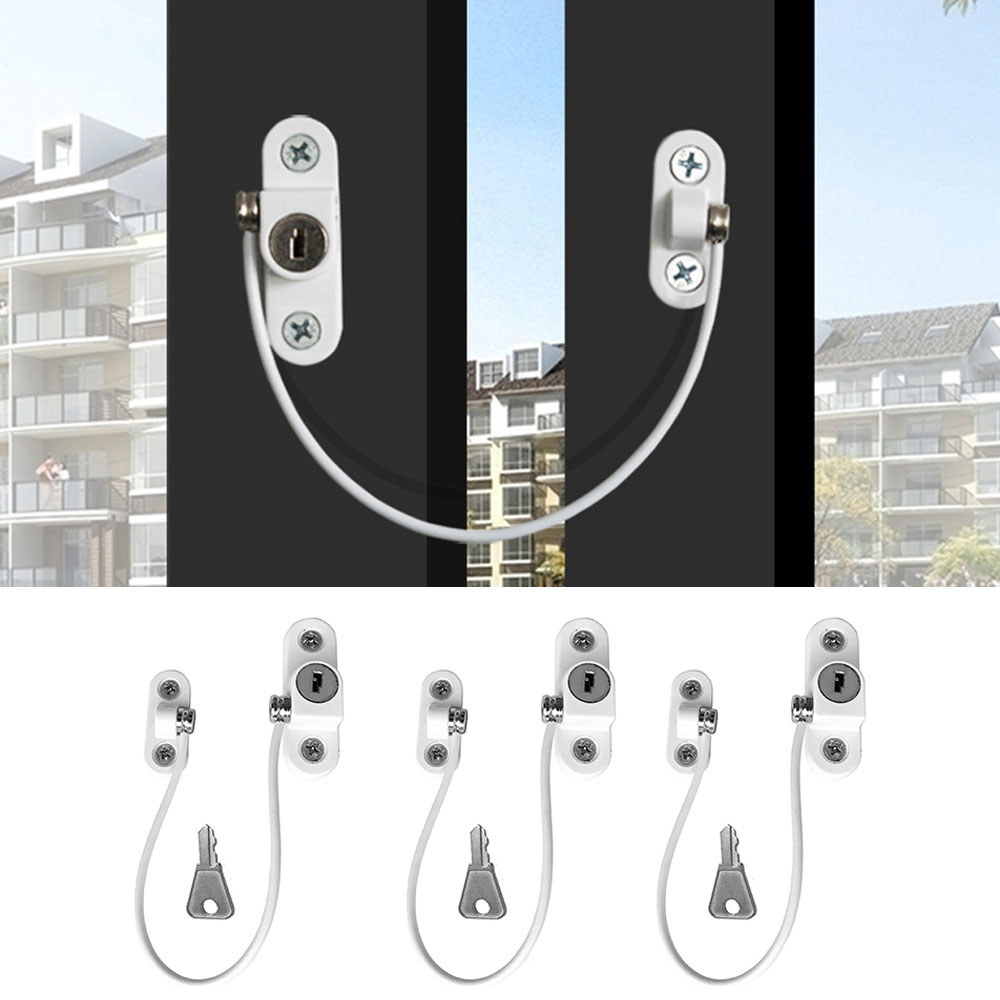 3 Pcs/lot Child Protection Baby Safety Window Lock Stainless Steel Child Safety Locks Protection For Windows From Children Lock