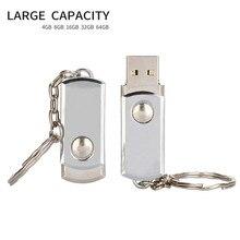 Usb флеш-накопитель, металлический брелок, Usb 2,0, флеш-накопитель, 4 ГБ, 8 ГБ, 16 ГБ, 32 ГБ, 64 ГБ, серебряный браслет, Usb флеш-карта памяти, 128 ГБ, бесплатный логотип
