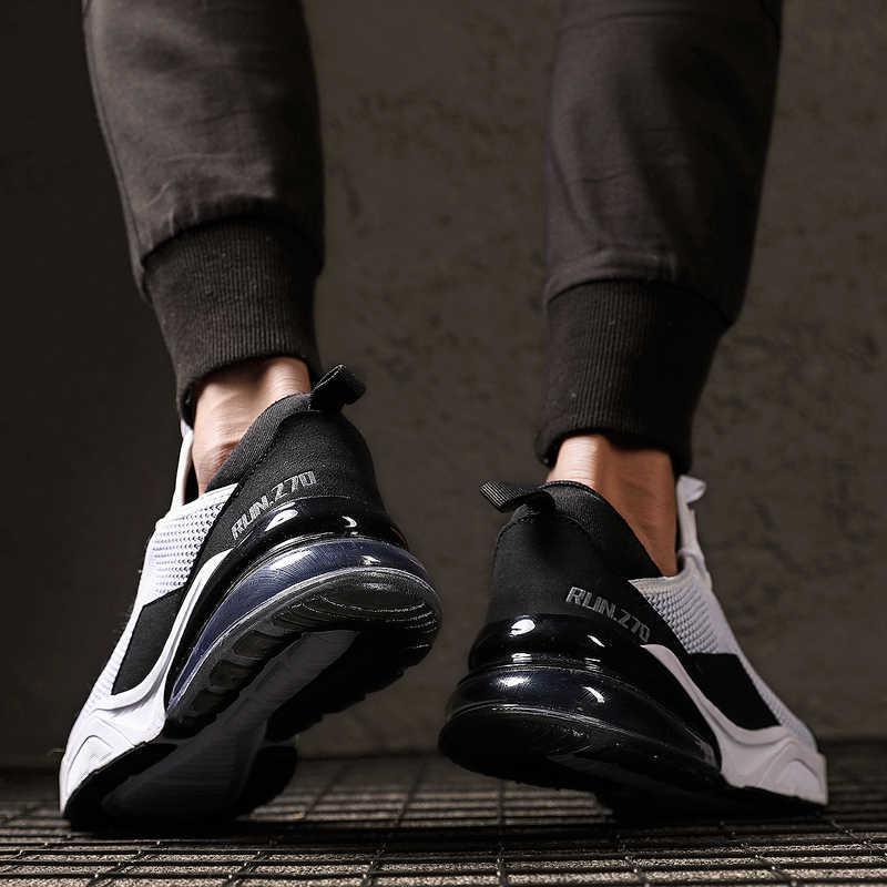 2019 新ファッション高品質メンズ通気性の快適なカジュアルシューズ男性軽量メッシュ男性の靴屋外フラット靴