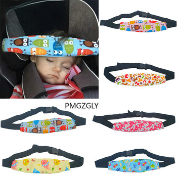 Adjustable Playpens Stroller Sleep Positioner Safty Pillow Baby Car Seat Head Support Children Infant Safety Belt Fastening Belt image
