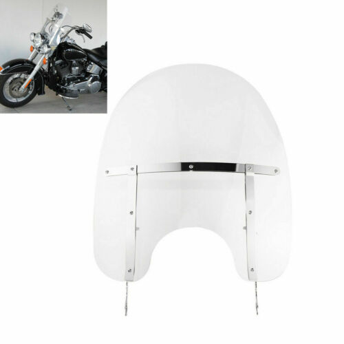 Motorcycle Clear Windscreen Windshield For Harley Heritage Softail Classic FLSTC Fatboy 00-17