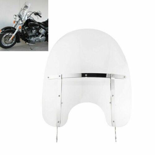 Pare-brise transparent pour moto | Pour Harley Heritage Softail Classic FLSTC Fatboy 00-17