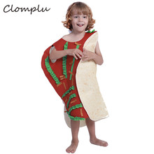 Clomplu Anime Cosplay Taco Halloween Costume Unisex Funny Costumes For Kids Party Show Holiday One Jumpsuit