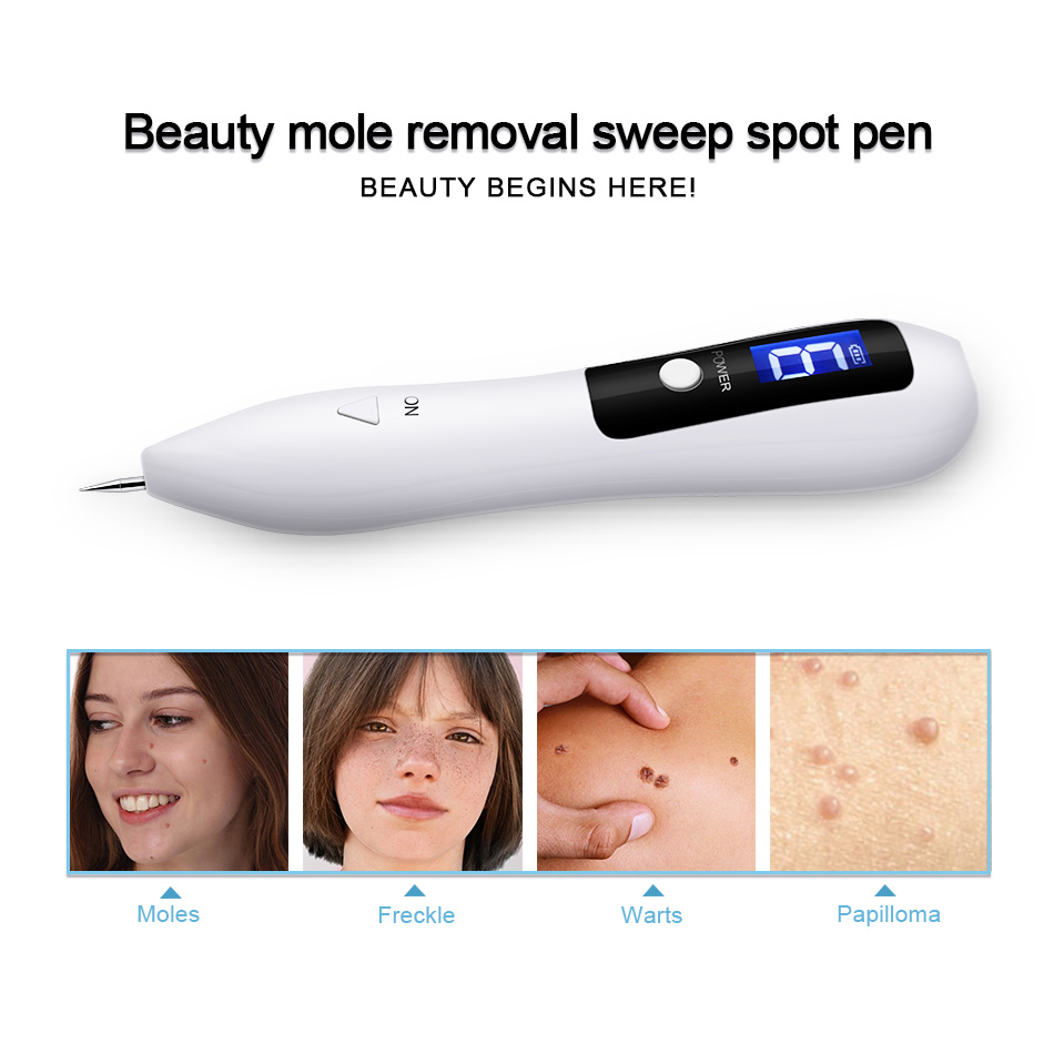 9 Level Tattoo Mole Removal Machine Laser Plasma Pen Dark Spot Remover LCD Skin Care Point Pen Skin Wart Tag Beauty Care