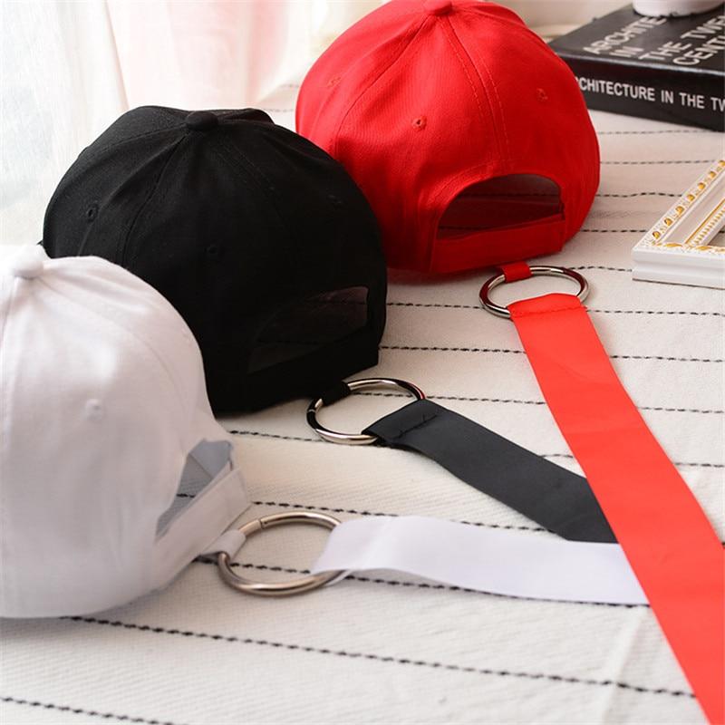 Korea 2019 New personality ring long ribbon baseball cap light body men and women casual hip hop cap bending hat tide in Men 39 s Baseball Caps from Apparel Accessories