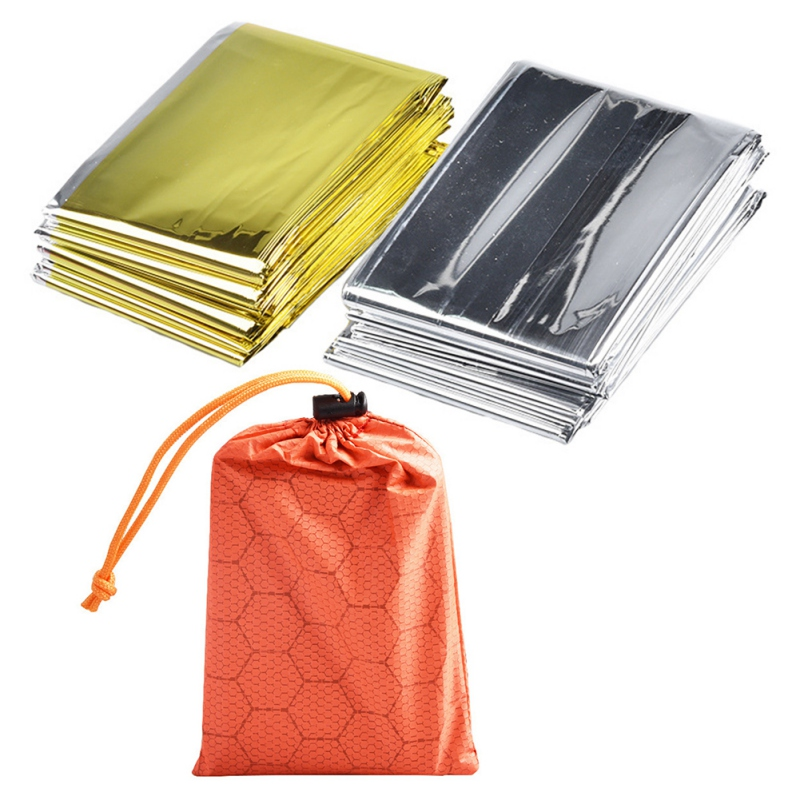 Outdoor Camping Emergency Thermal Keep Warm Sleeping Bag HikingWaterproof Mylar First Aid Emergency Blanke Camping Survival Gear