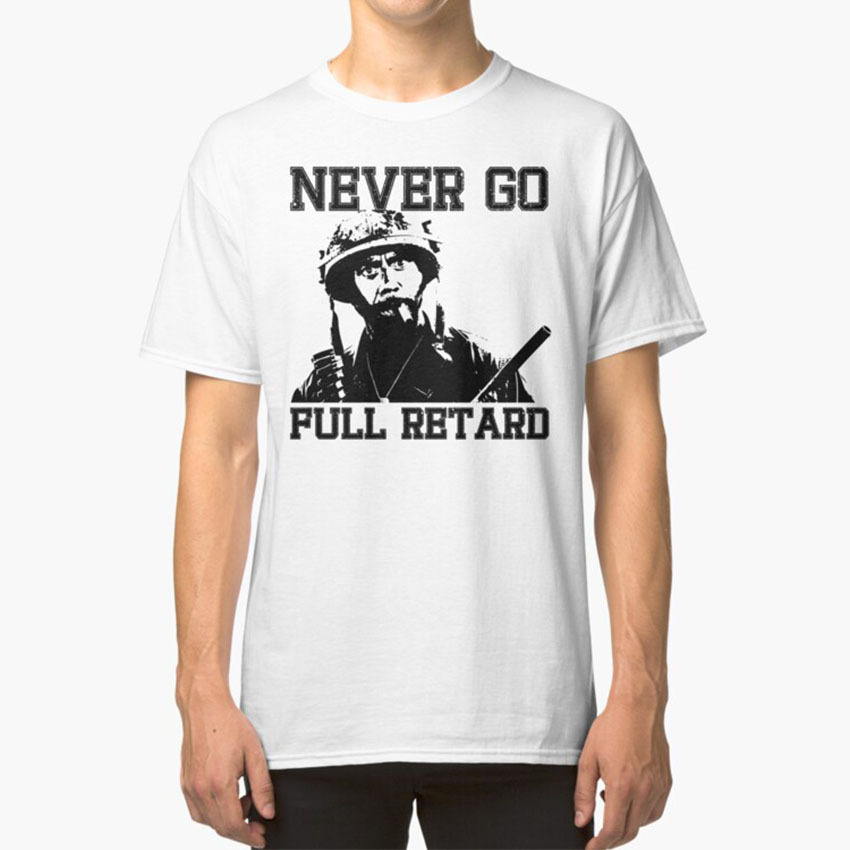 Never Go Full! T - Shirt Tropic Thunder Les Grossman Kirk Lazarus Alpha Chino Tugg Speedman Comedy Parody Movie Movies image