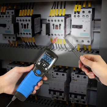 Ręczny piórkowy multimetr cyfrowy DC miernik napięcia AC rezystancja dioda Tester ciągłości podświetlacz wyświetlacza LCD tanie i dobre opinie YQXINQIDZ Elektryczne CN (pochodzenie) 0-600V 200-20M Handheld Wyświetlacz cyfrowy 235*54*30MM 0-50℃