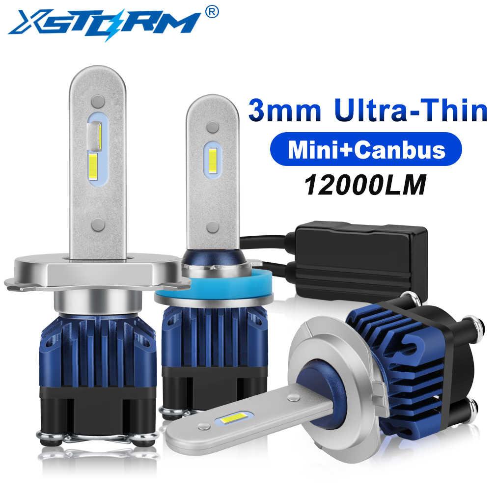 2Pcs H1 H7 LED Canbus H4 Led Headlight Bulbs H3 H8 H11 9005 HB3 9006 HB4 Car Light 50W 12000LM 6000K 12V 24V Automobile Headlamp