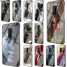 EWAU The Last Of Us Tempered Glass phone case for S