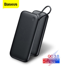 Baseus 20000 Mah Quick Charge 3.0 Power Bank 20000 Mah Usb C Pover Poverbank Draagbare Opladen Externe Batterij Oplader Powerbank(China)