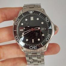 Automatic Mechanical Watch 007 black Dial Men Ceramic Bezel