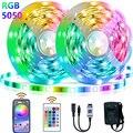 Доставка производится в течение 5-30 м светодиодный полосы светильник s ультрадлинный кабельный провод RGB 5050 Цвет меняющийся светодиодный св...