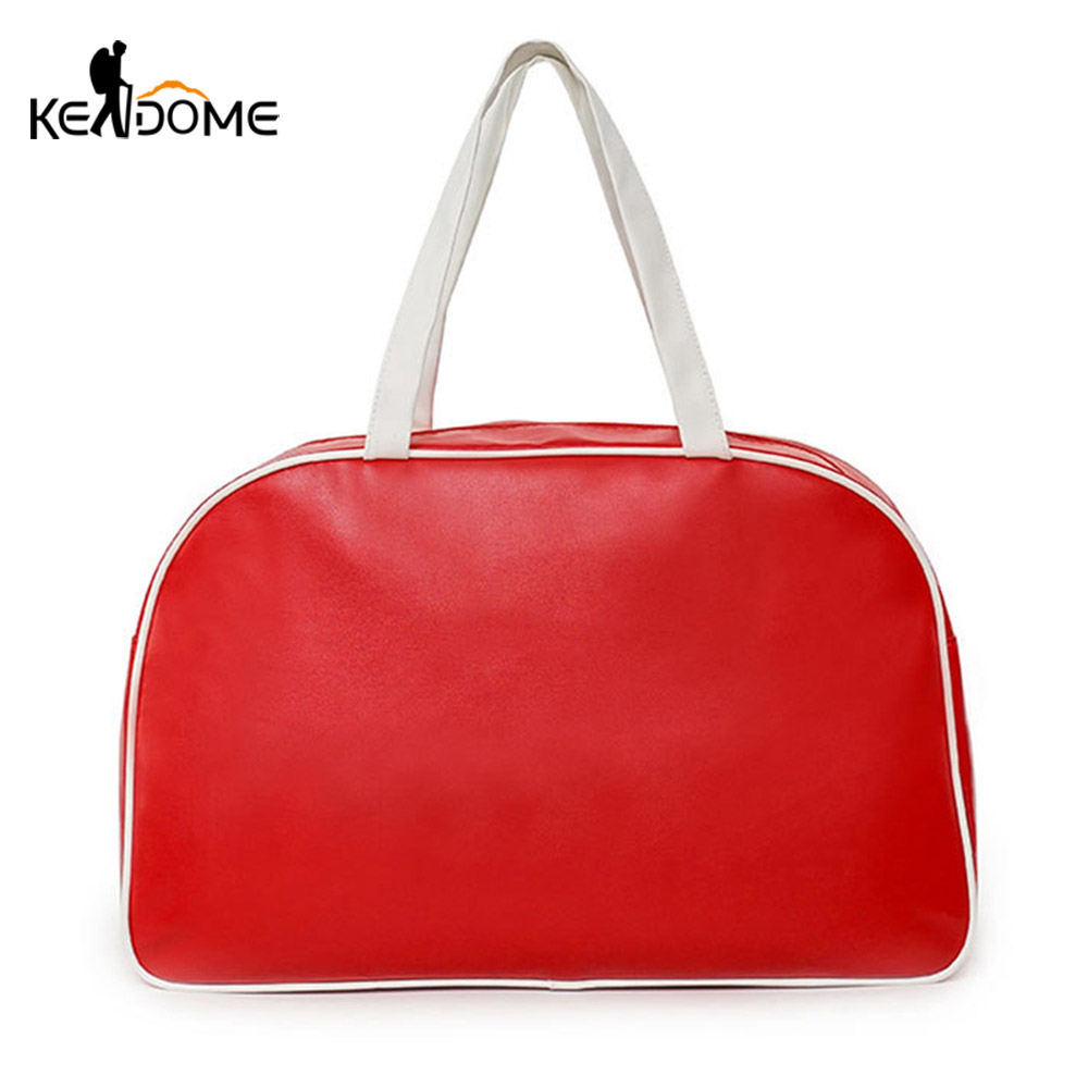 PU Leather Gym Bag Women Fitness Travel Handbag For Ladies Girls Red Travelling Training Pack Sac De Sport Gymtas Sack XA300D