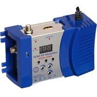 """vhf uhf HDM68 אפנן Digital RF HDMI אפנן AV ל- RF ממיר VHF UHF PAL / NTSC תקן אפנן ניידת עבור כחול ארה""""ב (4)"""