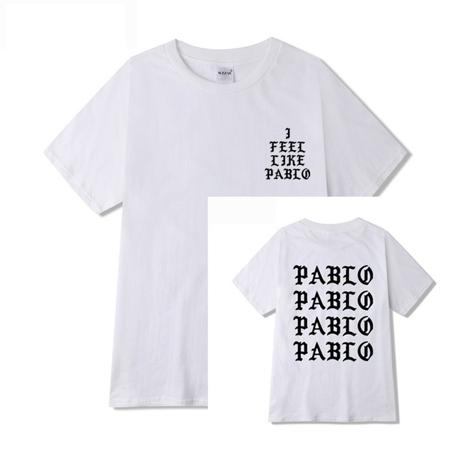 Kanye West Pablo T Shirt Men I Feel Like Paul Print Short Sleeves Anti Season 3 T-Shirt Hip Hop Social Club Rapper Tee Tops 2