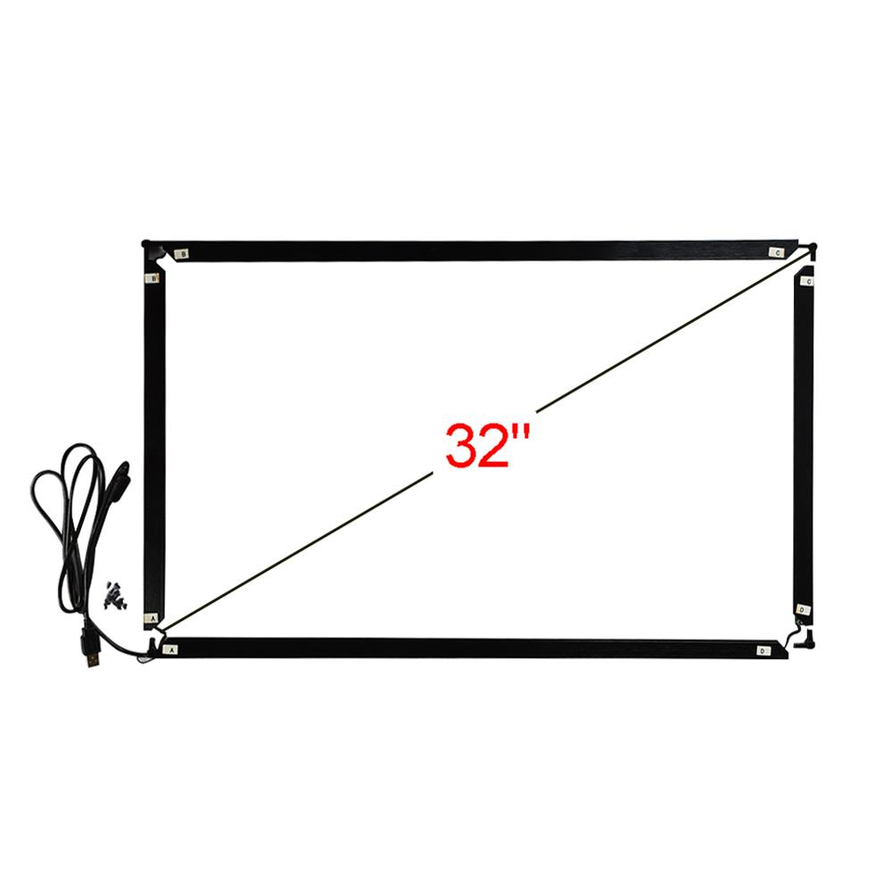 32 polegada 16:9 infravermelho multi touch frame 740*435mm 10 pontos toque interface usb