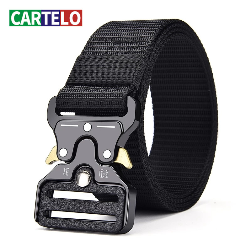 Unisex outdoor sports tactical multifunctional high quality canvas belt for men female luxury male Jeans army designer Trouser