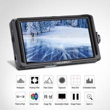 Feelworld 5 인치 IPS 4K HDMI 모니터링 F5 풀 HD 1920x1080 LCD DSLR 카메라 카메라 용 필드 비디오 모니터 DSLR 사진