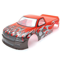 for 1/10 RC Car Venom T-10 PVC Painted Body Shell 1/10 RC Car Pick Up Truck Width 205Mm Wheelbase 255Mm,Red(China)