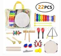 Early Childhood Educational Toy Orff Instruments Percussion Instrument Pieces Kit Bag Parent And Child Teaching Aids Combination