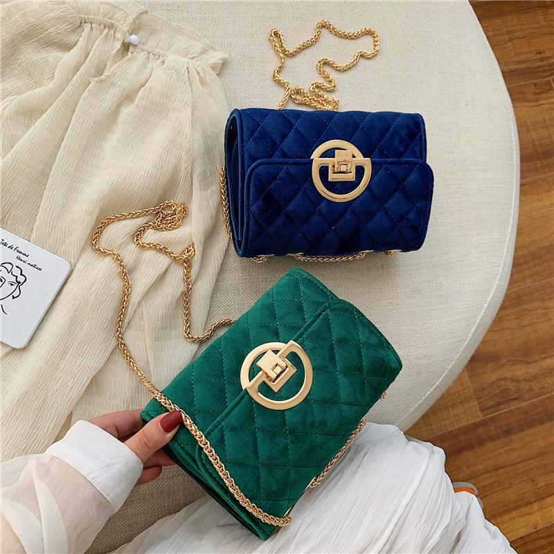 Vintage-Fashion-Female-Plaid-Square-Bag-2020-New-Quality-Velvet-Women-s-Designer-Handbag-Lock-Chain (4)