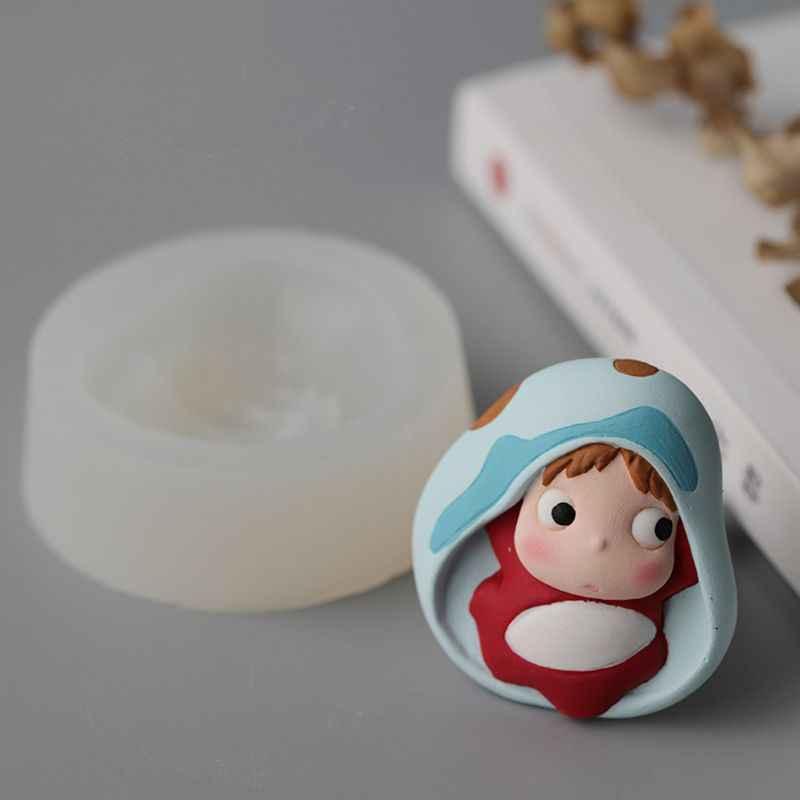 Cute Cartoon Ponyo wisiorek żywicy epoksydowej silikonowe formy tworzenia biżuterii narzędzia rzemieślnicze