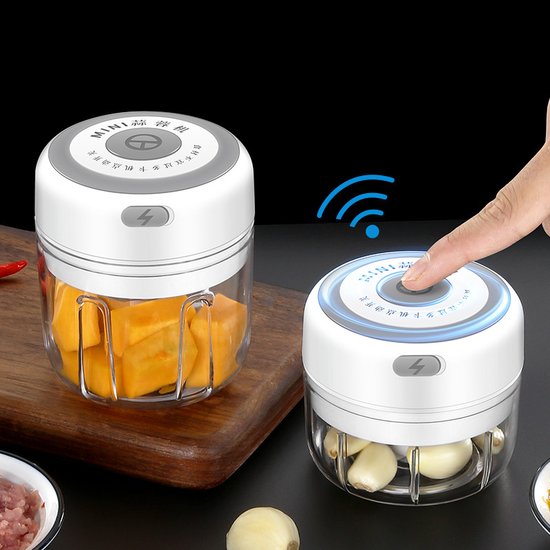 New USB Charge Wireless Electric Meat 3Level Grinder Food Chopper Mini Stainless Electric Kitchen Chopper Meat Grinder Shredder