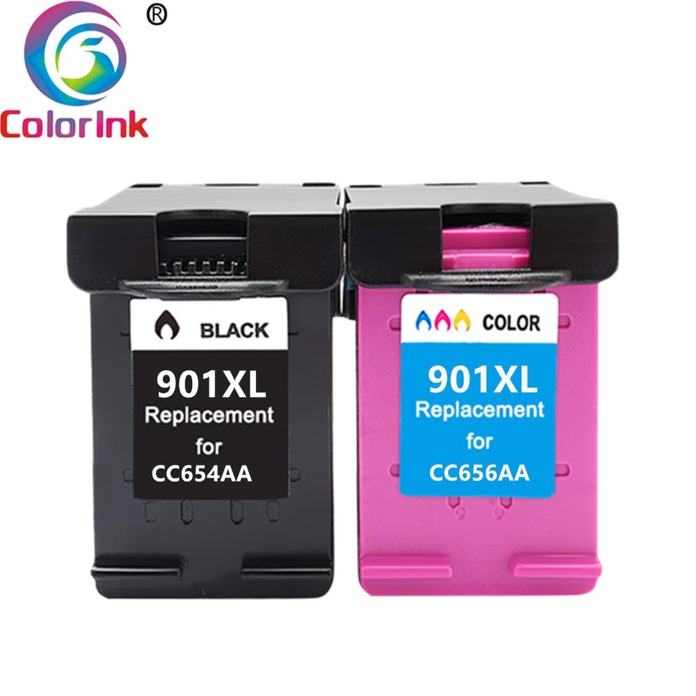 ColoInk 2Pack For HP 901XL 901 Ink Cartridge Remanufactured  for HP Officejet 4500 J4500 J4540 J4550 J4580 J4640 J4680c printers|Ink Cartridges|   - title=