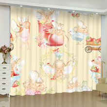 Cartoon Childrens Room Cute Curtains for Window Kids Bedroom Blinds Finished Drapes Window Blackout Curtains Parlour Room Blinds nightmare curtains for window dark style butterfly batman blinds finished drapes window blackout curtains parlour room blinds