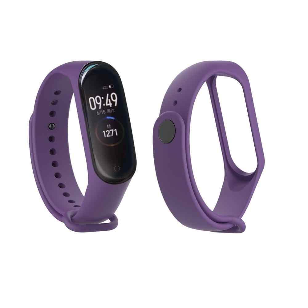 Bunte Mode Armband Armband Für Xiao mi mi Band 4 Ersatz Sport Silikon Strap Ersatz Strap