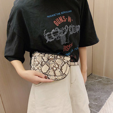Women Waist Bags Serpentine Fanny Pack Fashion Waist Pack Belt Bag Pu Leather Chest Bag Snake Skin Hip Bag Female Luxury Purse