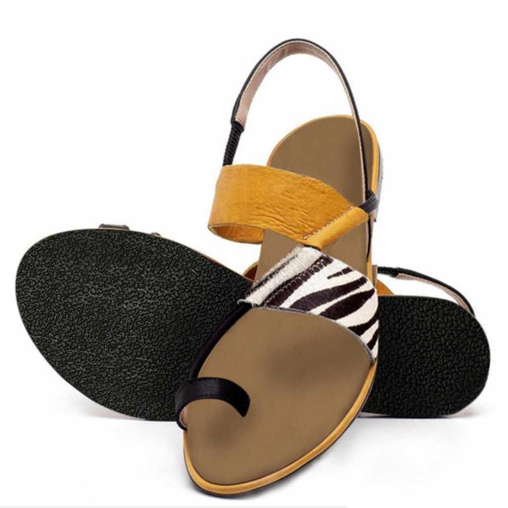 2020 รองเท้าแตะสตรี ZEBRA พิมพ์ฤดูร้อนส้นแบน Flip-Flops รองเท้าแตะ SLIP-ON รองเท้าแตะรองเท้าแตะลำลองรองเท้า zapatos De mujer รองเท้าแตะชายหาด