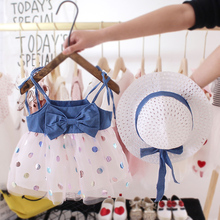 Baby Girl Child Summer Style Princess Dress Sling Mesh