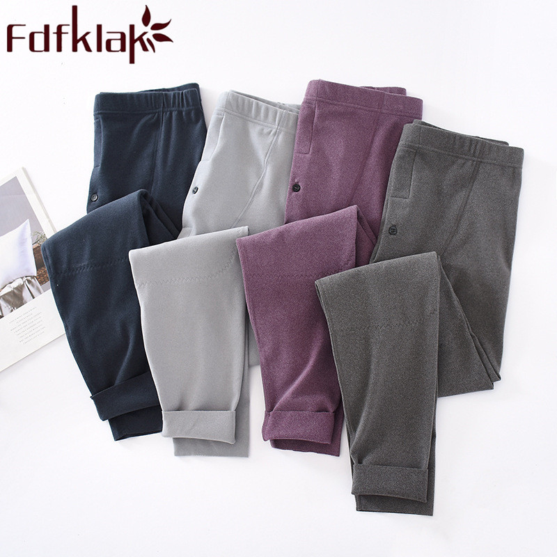 Fdfklak L 3XL размера плюс брюки для отдыха мужские Спальные осень зима новые домашние