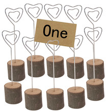 10pcs Photo Clip Memo Card Holder Table Wedding Party Place Favor Customized Gift Note Clamp Wedding Wooden Table Card Holder(China)