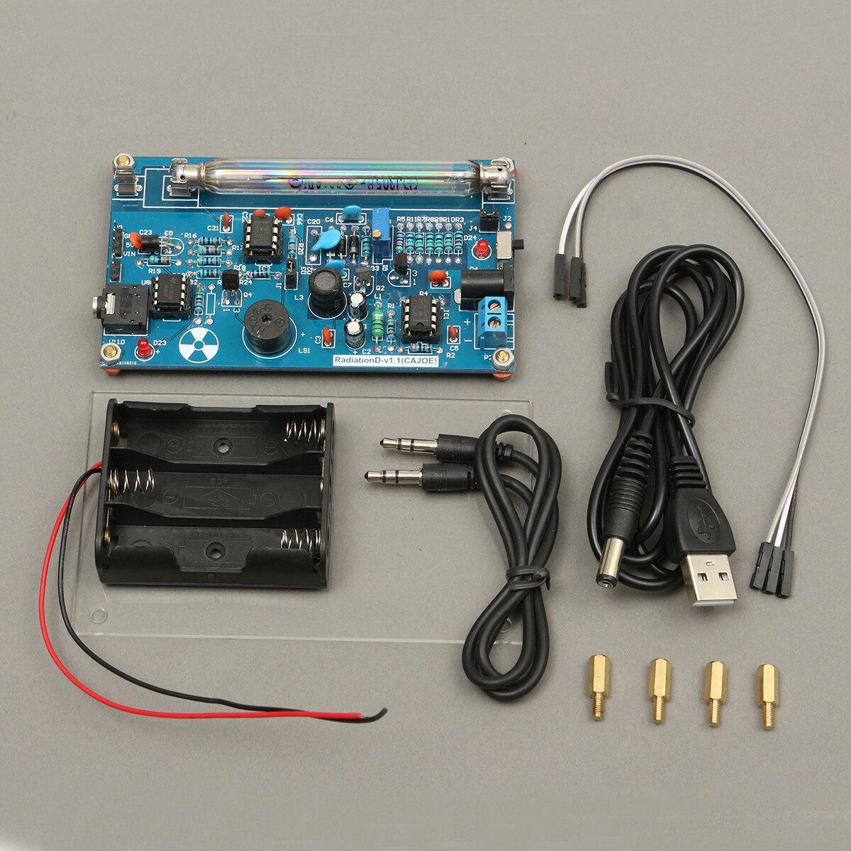 Kit de compteur de Geiger assemblé bricolage détecteur de rayonnement nucléaire